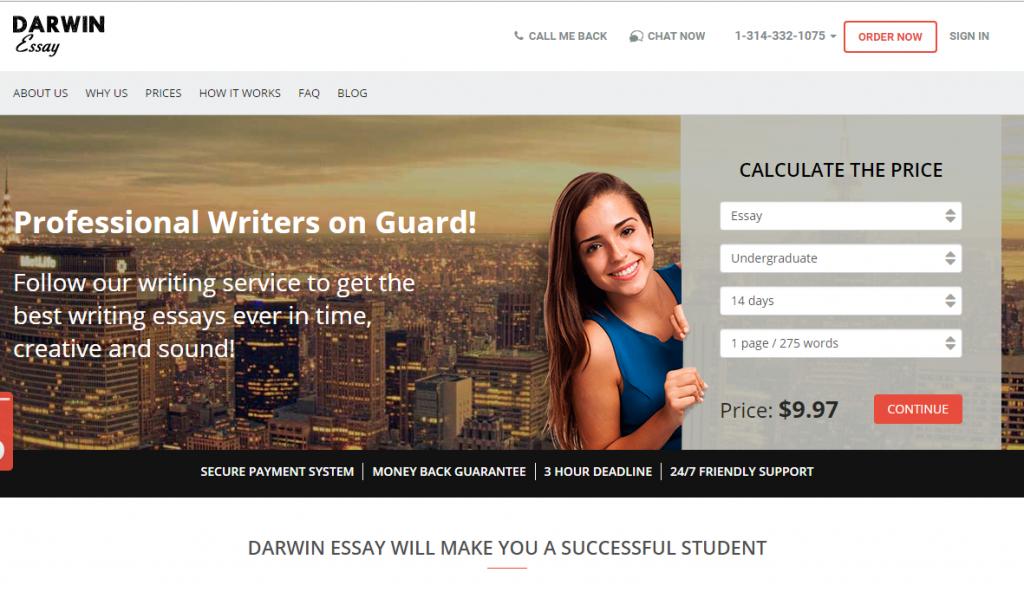 darwin essay